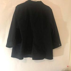 CJ Banks 3x cotton blazer/jacket black. Button up